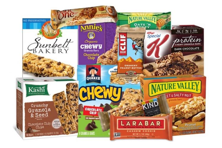 Commercial whole grain bars products are available
