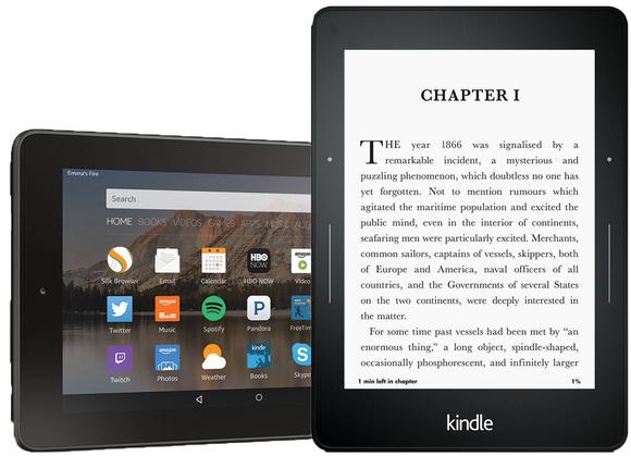 Read eBook on Amazon Kindle Tablet